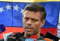"""Leopoldo López dice que seguirá trabajando """"para alcanzar la libertad"""" de Venezuela"""