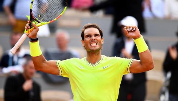 Rafael Nadal esta cerca de ganar su  duodécimo título en Roland Garros tras imponerse al suizo Roger Federer en apenas tres sets, por 6-3, 6-4 y 6-2 en semifinales. (Foto: Twitter)