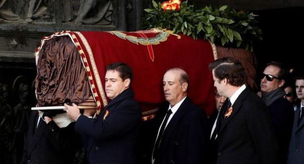 Los restos de Franco fueron sacados de la basílica por algunos de sus descendientes. Foto: Reuters