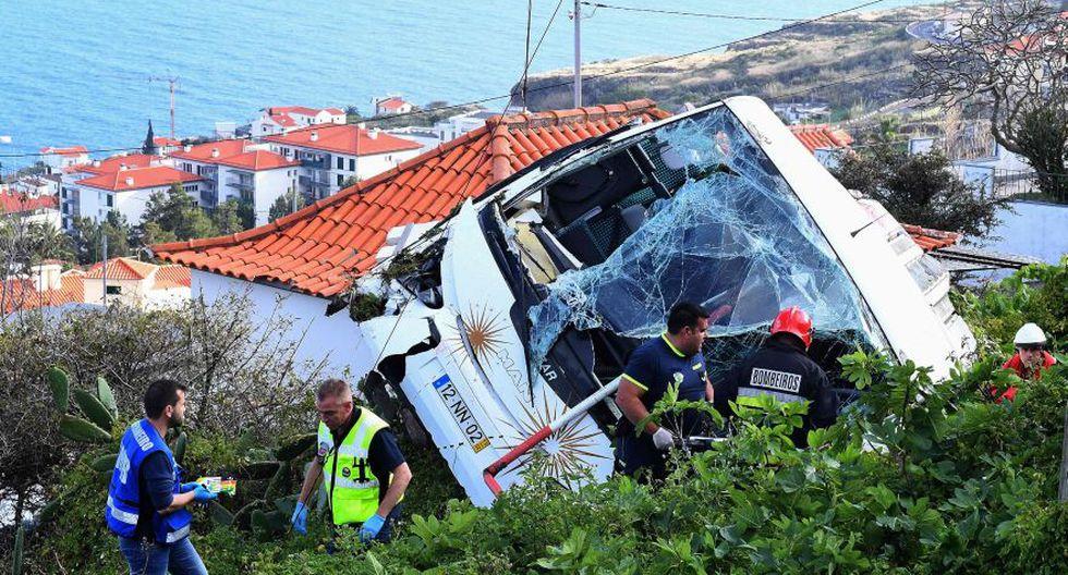 Madeira | Portugal: Al menos 28 muertos en accidente de un autobús turístico. (AFP)