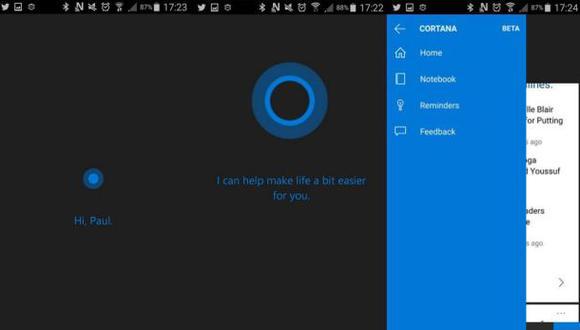 Microsoft: Se filtró la versión de Cortana para Android