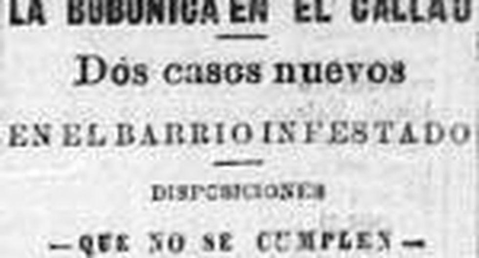 Recorte del diario El Comercio, junio de 1904. Los avances de la peste bubónica causaron sorpresa y horror entre los chalacos y limeños.