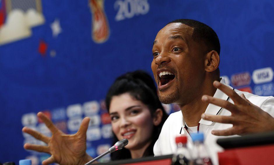 Will Smith Era Istrefi en rueda de prensa antes de la clausura de Rusia 2018. (Foto: EFE)