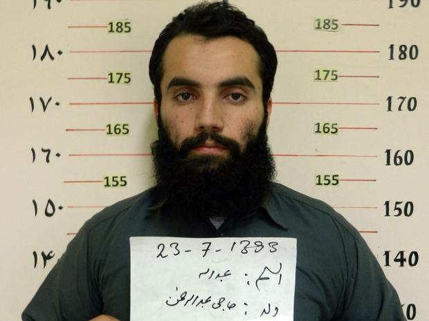 This photo released on October 16, 2014 by the Afghanistan National Security Directorate (NDS) shows Anas Haqqani, then a high-ranking leader of the Al Qaeda-linked Haqqani network.