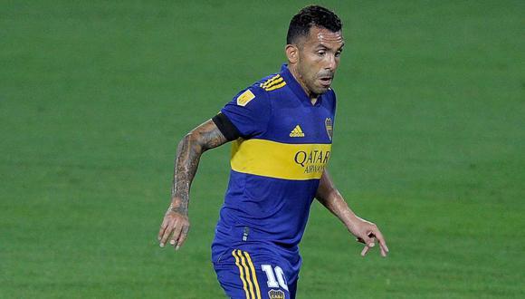 Carlos Tevez elogió a Leo Díaz tras finalizar el encuentro por sus buenas atajadas  (Foto: AFP)
