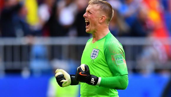 Portero de Inglaterra Jordan Pickford desvió un cabezazo que pudo ser el empate de Suecia en duelo de cuartos de Rusia 2018. (Foto: Reuters)