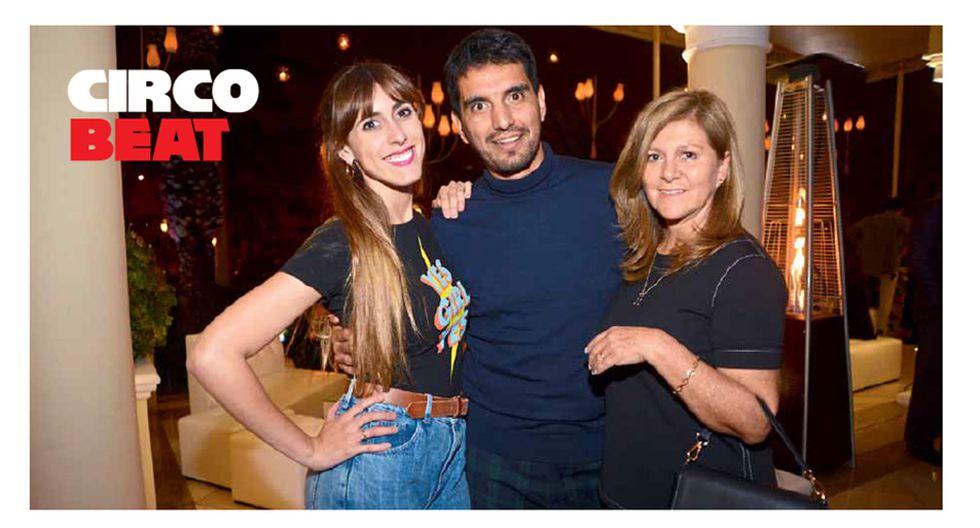 A SU SALUD. Daniela Camaiora, Carlos Andrés Luna y Blanca Santillán brindan con Castillo Perelada y Tanqueray en el after party de Cielo. Country Club Lima Hotel, San Isidro.