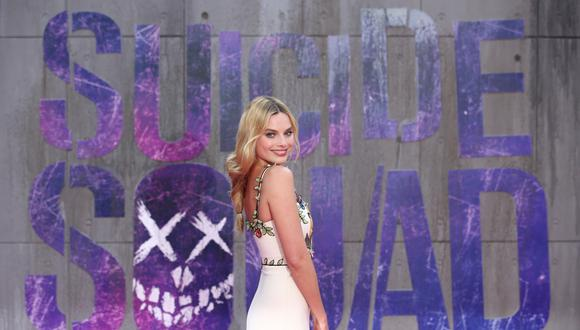 "Margot Robbie, en 2016, durante la premiere de ""Suicide Squad"". Foto: AFP"
