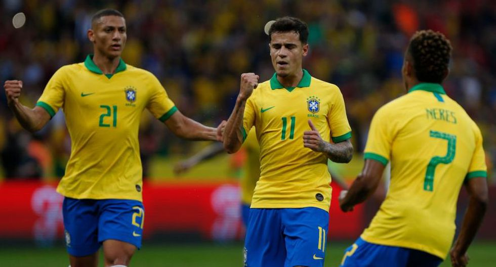 Philippe Coutinho colocó el 3-0 frente a Honduras. (Foto: EFE)
