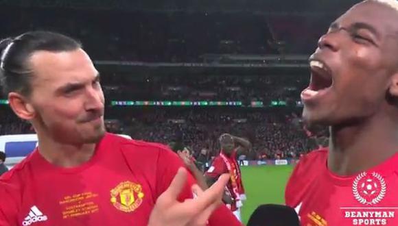 Ibrahimovic hizo broma en vivo a Pogba por precio de su fichaje