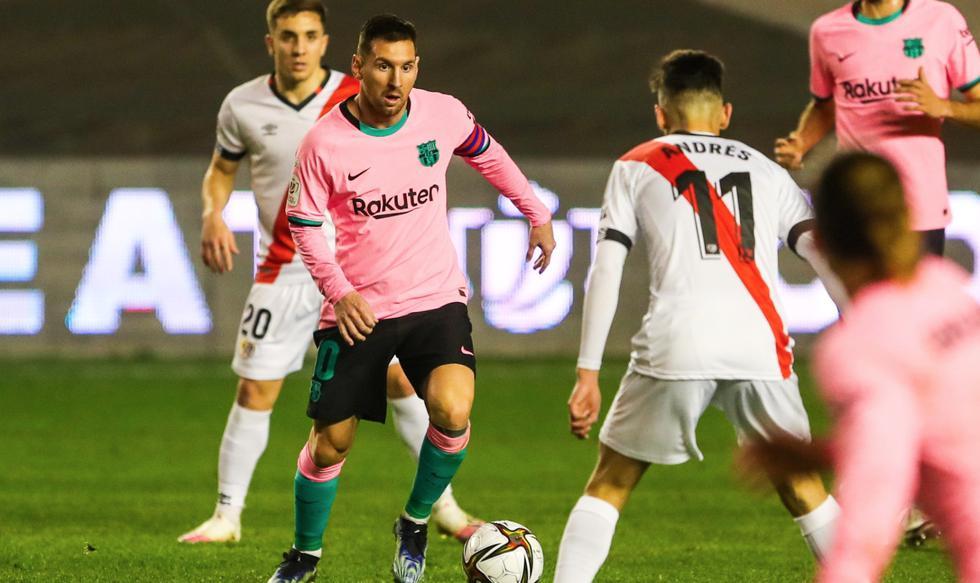 Barcelona enfrentó al Rayo Vallecano por la Copa del Rey