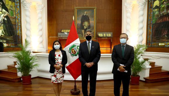 Reunión del presidente Francisco Sagasti con la bancada de Acción Popular. (Foto: Presidencia)