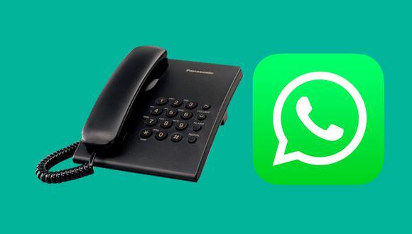 Así es como puedes usar tu número de teléfono fijo con WhatsApp. (Foto: Composición)