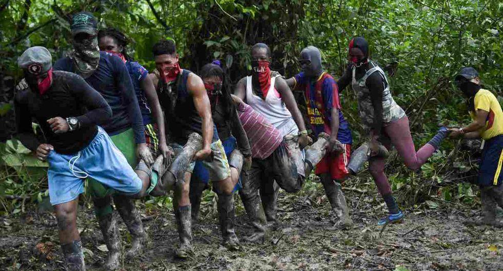 Los recién ingresados al ELN son negros e indígenas voluntarios y ninguno tiene menos de 16 años, según la guerrilla. (Foto: AFP)