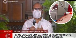 Coronavirus en Perú: ministro de salud solicita donantes de sangre