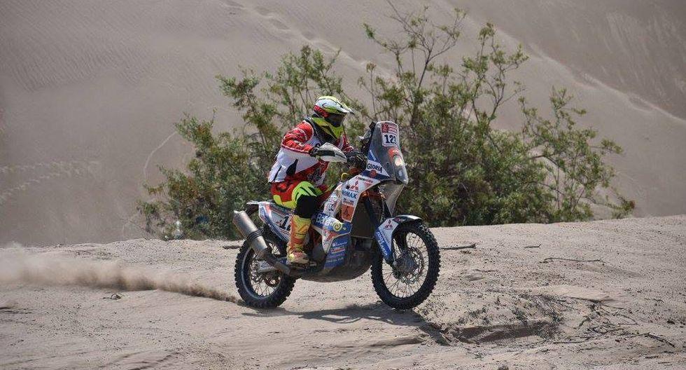 Sebastián Cavallero es el mejor peruano en motos del Dakar 2018. (Foto: ITEA Photo)