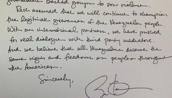 Obama envió carta de solidaridad a venezolana en Miami