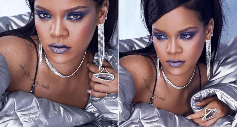 La cantante de Barbados demostró cómo se deben combinar los tonos oscuros en los labios para hacer un maquillaje perfecto. (Foto: Rihanna Twitter)