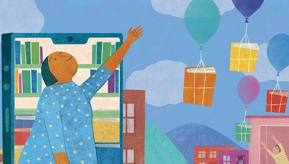 La Feria del Libro de Lima ha sido el mayor espacio privado de acceso al libro y la lectura en la historia de nuestra ciudad. Este año se desarrollará de forma virtual. (Ilustración: Víctor Aguilar)