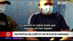 Ayachucho: capturan a exoficial del Ejército con 18 kilos de marihuana