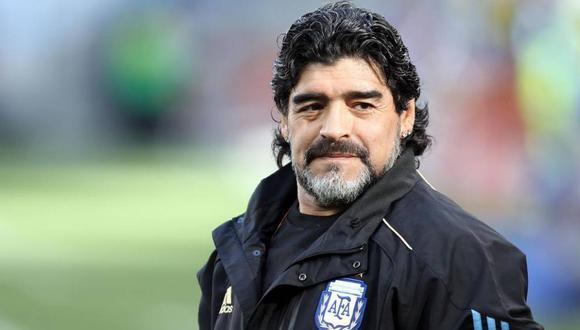 Diego Armando Maradona, ex entrenador de Argentina y hoy leyenda del fútbol mundial. (Foto: EFE)