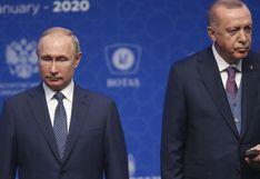 """Putin y Erdogan, """"profundamente preocupados"""" por la tensión entre EE.UU. e Irán"""
