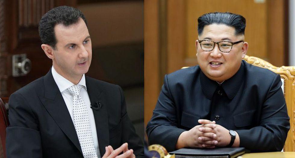 Bashar al Assad quiere reunirse con Kim Jong-un. (Foto: AFP)