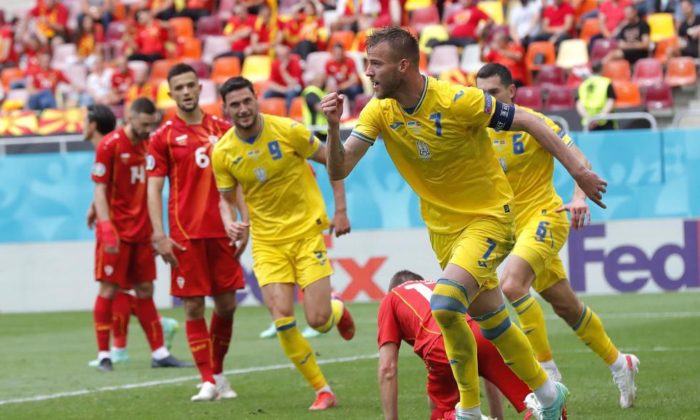 Ucrania vs. Macedonia del Norte: las imágenes del partido por la Eurocopa   Foto: EFE