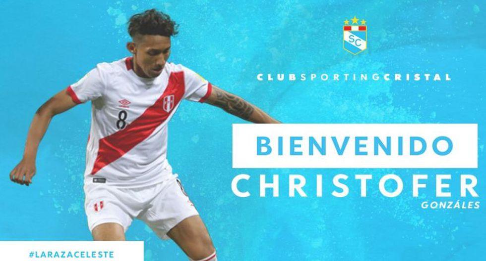 Sporting Cristal: Christofer Gonzáles. (Foto: SC).