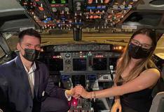 Instagram: le pidió matrimonio a su amada en pleno vuelo y ahora es un éxito viral en Internet