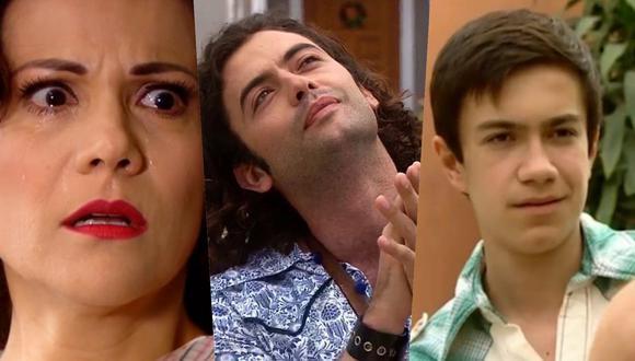 """Malena, Álex y Pedrito tuvieron roles cruciales en el final de temporada de """"De vuelta al barrio"""". Fotos: América TV."""
