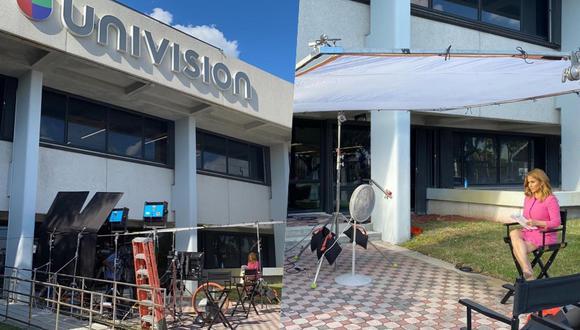 Luego del cierre del edificio de Univisiónm algunos programas decidieron grabar desde la calle.