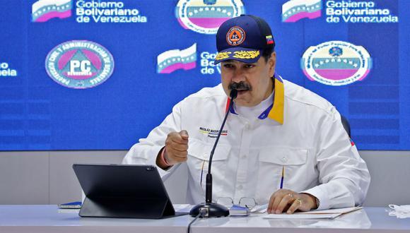 """El presidente de Venezuela, Nicolás Maduro, aseguró este domingo que """"no va a haber impunidad"""" tras el diálogo iniciado con la oposición que tiene México como sede. (VENEZUELAN PRESIDENCY / AFP)."""