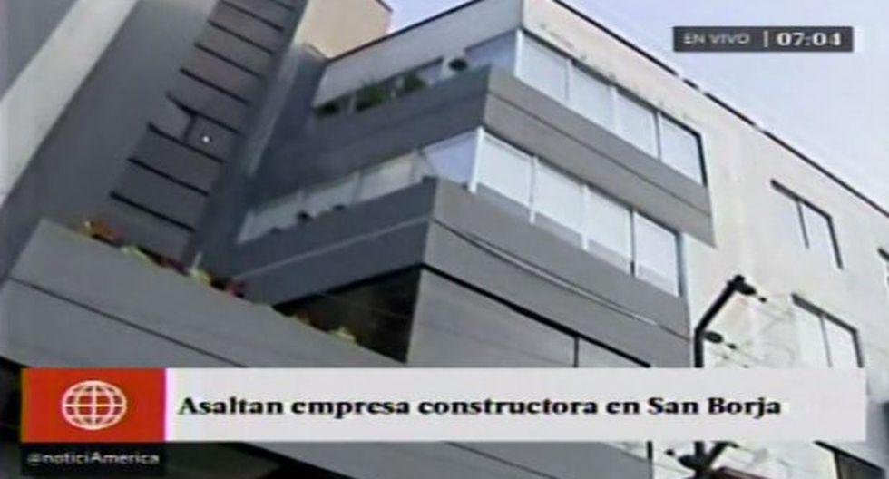 San Borja: banda robó en oficinas de empresa constructora