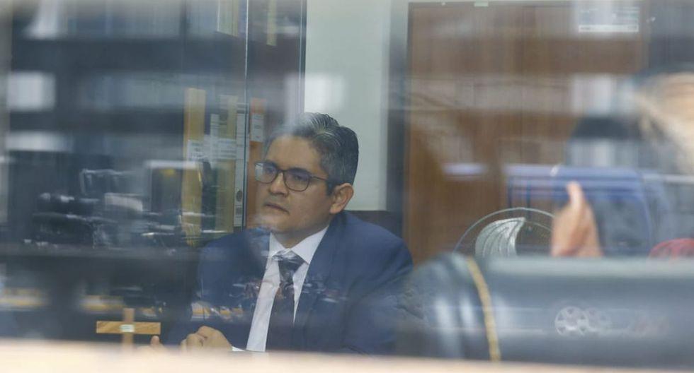 El fiscal José Domingo Pérez declara ante el juez Hugo Núñez Julca (Foto: Hugo Pérez/GEC)
