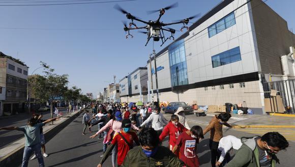 El drone estuvo en el distrito de La Victoria. (Foto: difusión)