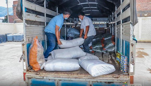 Familias damnificadas por inundaciones recibieron ayuda humanitaria | Foto: Gore Huánuco