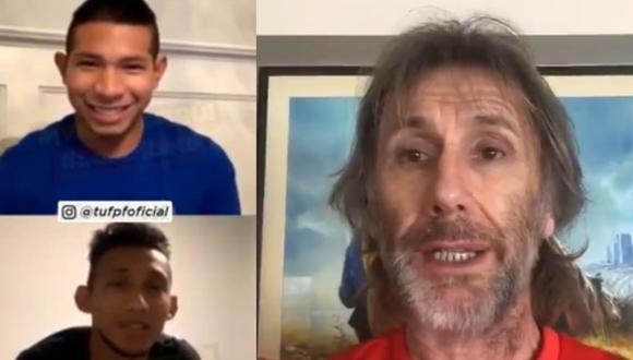 Edison Flores y Christofer Gonzales comentaron sobra el look de Ricardo Gareca. (Captura: Instagram)