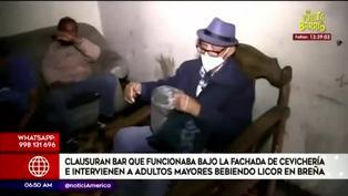 Breña: clausuran bar que funcionaba bajo fachada de cevichería