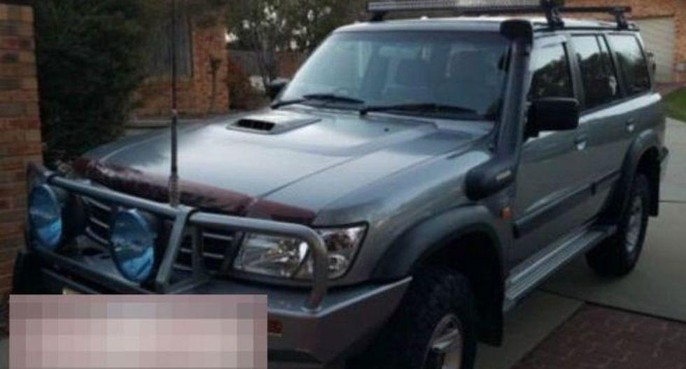 La policía difundió una imagen de la camioneta 4x4 durante la búsqueda del vehículo. Foto: Policía de Queensland, via BBC Mundo