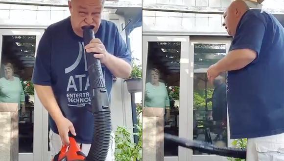 Así fue como esta persona fue captada en el máximo momento de diversión por su esposa. (Foto: Facebook)