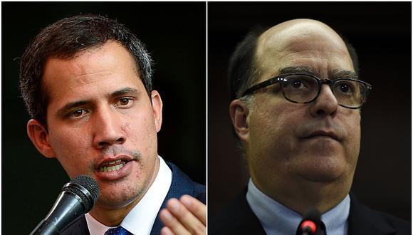 """Juan Guaidó señaló que Julio Borges """"sostendrá reuniones con las autoridades peruanas"""" para """"atender la severa situación que viven"""" los venezolanos en el país. (AFP)"""