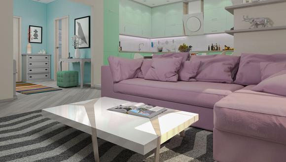 Los tonos pastel pueden ir tanto en las paredes como en los muebles. (Foto: Shutterstock)