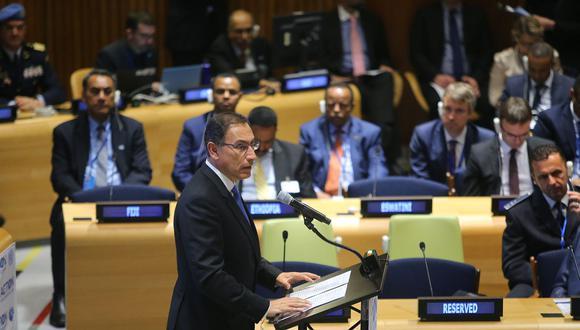 El presidente de la República, Martín Vizcarra, participó en el Consejo de Seguridad de Naciones Unidas en Estados Unidos. (Foto: Presidencia)