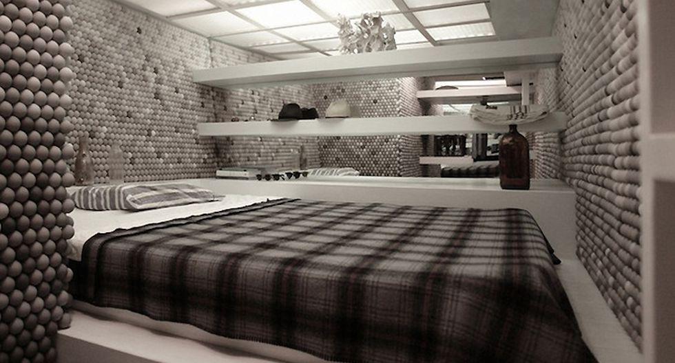 La cama cuenta con tres repisas para colocar objetos personales o más decoración. (Foto: mymodernmet.com)