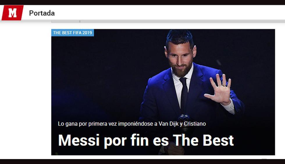 Lionel Messi ganó The Best 2019: los medios internacionales reaccionaron por la victoria del argentino. (Fotos: captura)