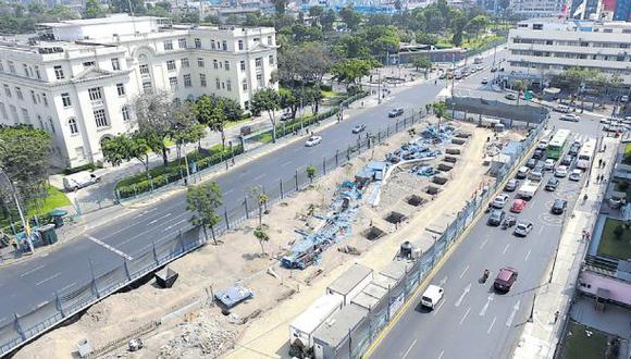 """Fuentes de la Municipalidad de Lima confirmaron ayer a El Comercio que el proyecto """"regresó a su propuesta inicial.(Lino Chipana/El Comercio)"""