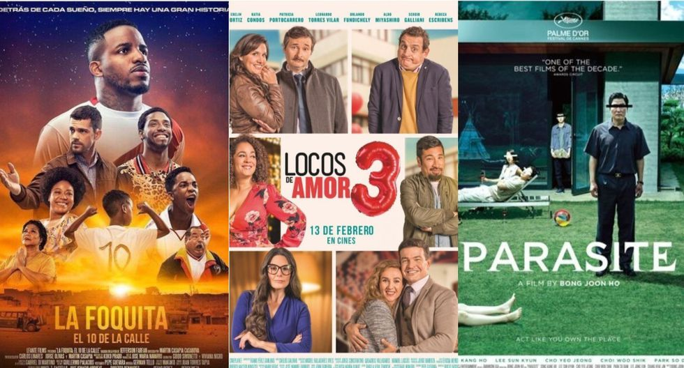 """""""La Foquita: El 10 de la calle"""", """"Locos de amor 3"""", """"Parásitos"""" y más películas a solo cinco soles. (Foto: Composición)"""