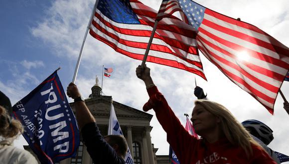 Seguidores de Donald Trump manifestándose en Georgia State Capitol. (Foto: Reuters)