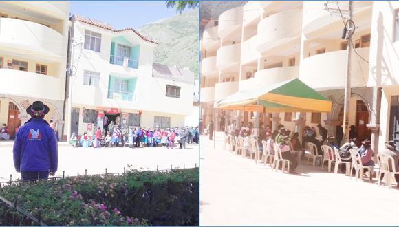 La Defensoría difundió esta imagen en la que se observa cómo se atendía a los beneficiarios antes (izquierda) y después de su intervención (derecha). (Foto: Defensoría del Pueblo)